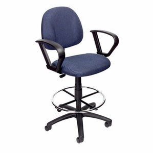 Office Drafting Chair With Footrest & Loop Arms