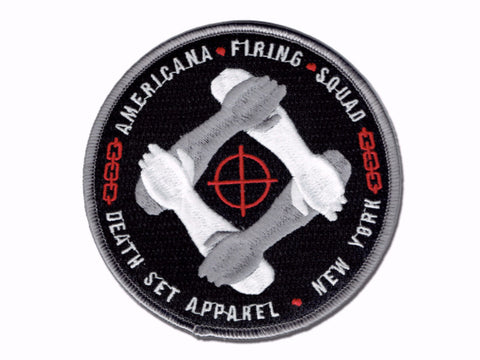 """Americana Firing Squad"" - Embroidered patch"