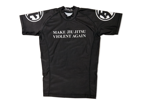 """Make Jiu Jitsu Violent Again"" Short Sleeve Rashguard"