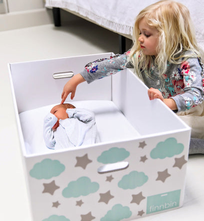 Cardboard Baby Box Bassinet | Finnish Baby Box | Finnbin
