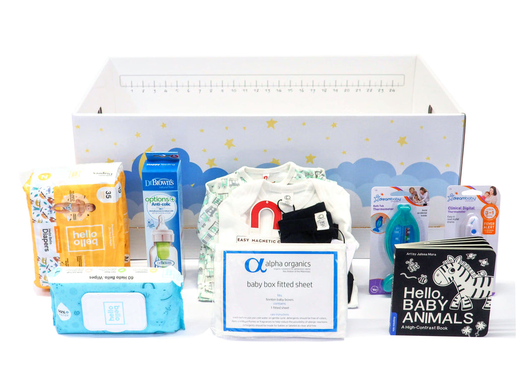 Baby Shower Gift Box From Finnbin with Essential Baby Items
