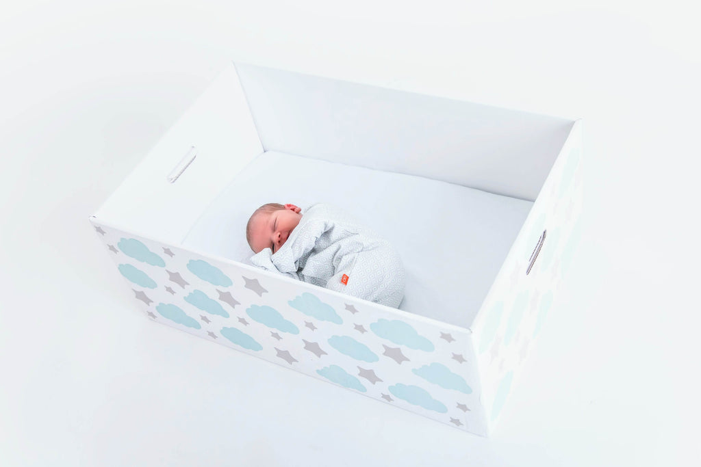 Cute Baby in Baby Box | Finnish Baby Box | Finnbin