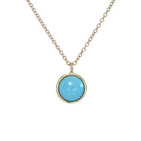 Blue Bird Turquoise Charm Necklace