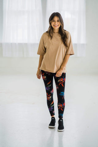 OxLaLa Leggings Dragonfly Paradise with Yoga Band Dragonfly Paradise with Yoga Band - Soft, comfortable leggings. Beautiful designs and patterns.