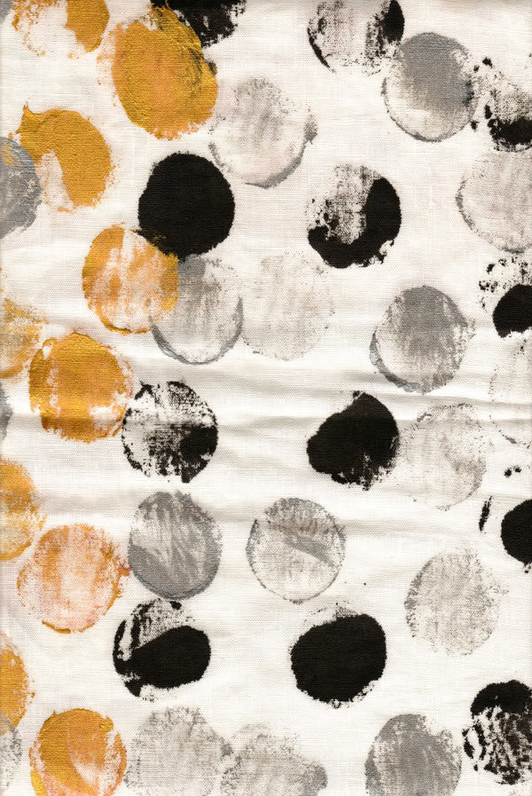 Hand painted linen and cotton by Sara Palacios Designs