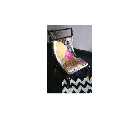 Accent chair upholstered in Sara Palacios Designs Fabric