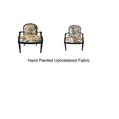 hand painted accent chairs by Sara Palacios Designs