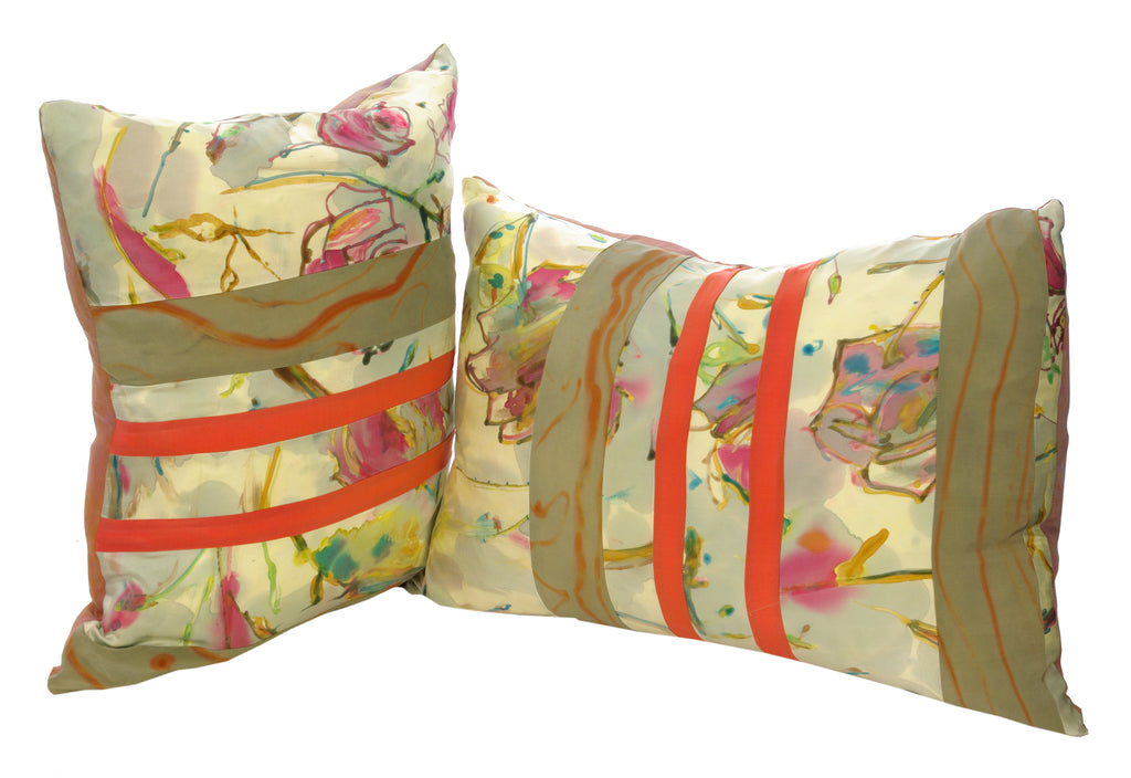 silk decorative pillows, every piece is one-of-a-kind