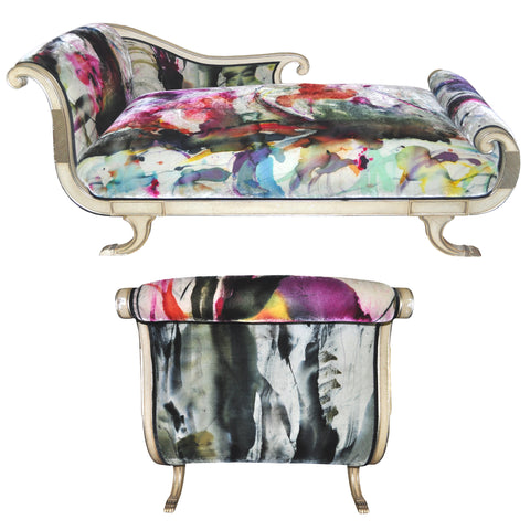 painted chaise lounge by Sara Palacios Designs
