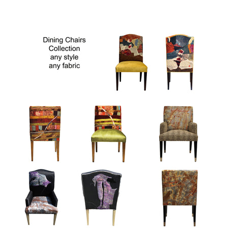 upholstered dining chairs by Sara Palacios Designs