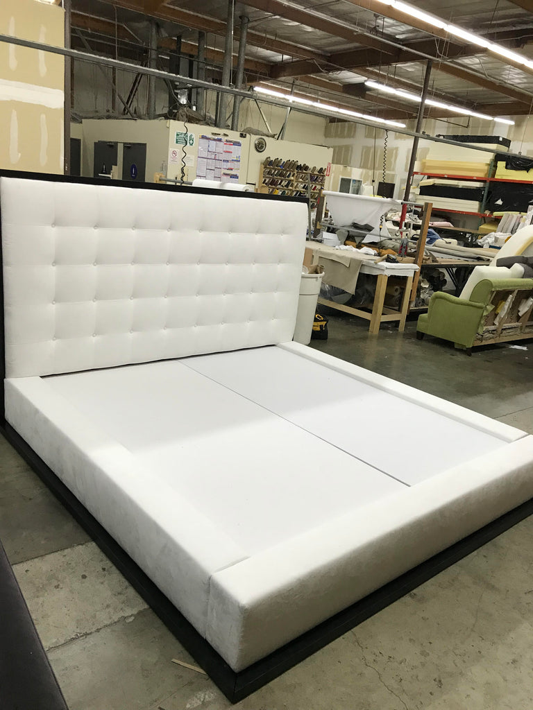 custom tufted bed by Sara Palacios Desings