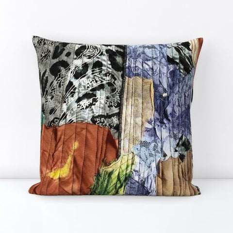Square Patchwork Printed Velvet Throw Pillows - Style 7b
