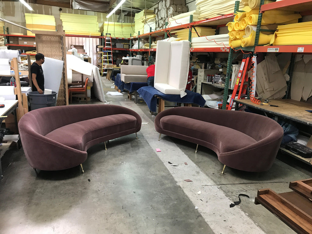 two custom sofas