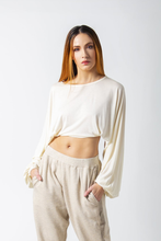 Load image into Gallery viewer, Bamboo Knit Cropped Sleeves