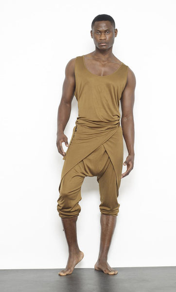 Men's Silk Jersey Wrap Pant