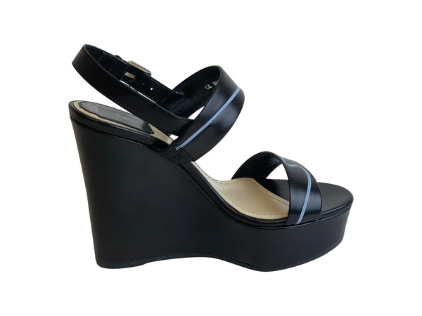 Christian Dior Paradise Calfskin Leather Wedges - ACCESSX