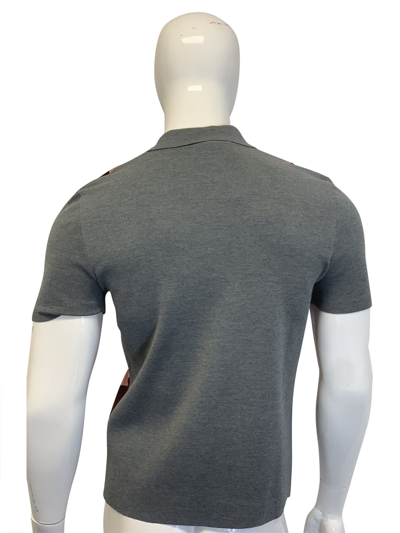 Bottega Veneta Mens Grey Polo T-Shirt - ACCESSX