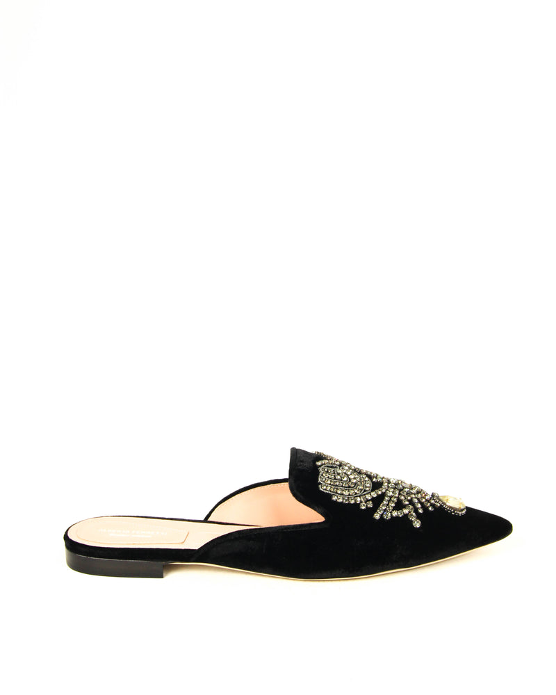 ALBERTA FERRETTI BLACK FLAT SHOES - ACCESSX