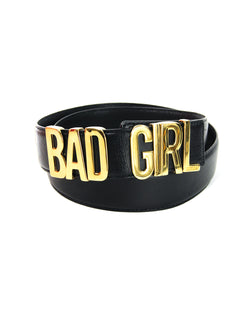 "Moschino ""Bad Girl"" Leather Belt - ACCESSX"