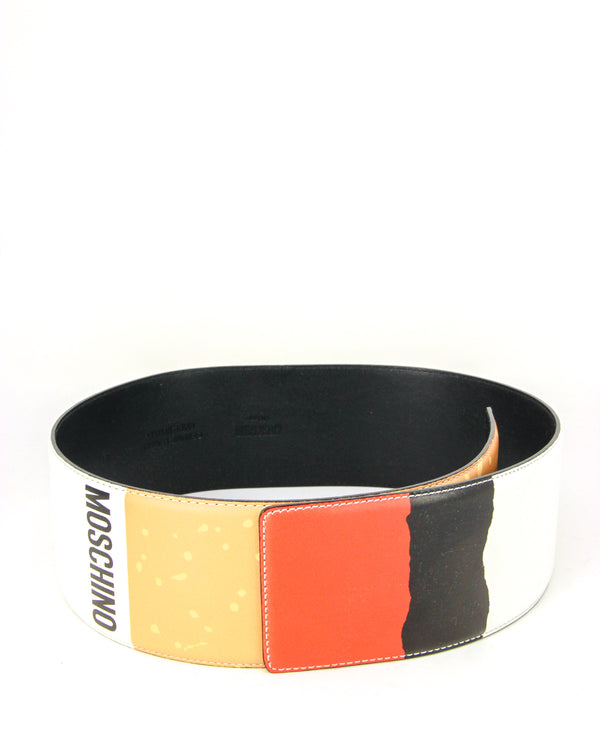 "Moschino ""It's Lit"" Leather Waist Belt - ACCESSX"