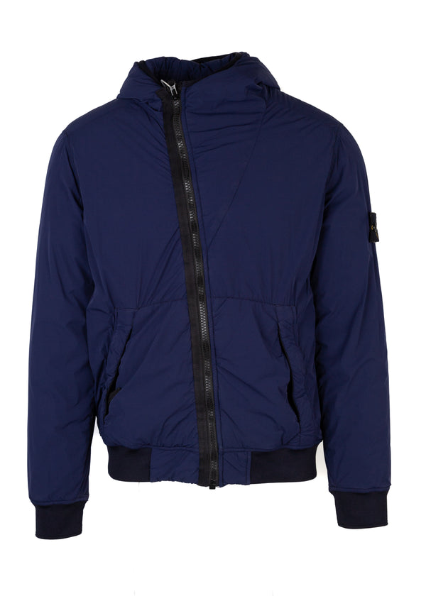 Stone Island Mens Blue Lightweight Rain Jacket - Tribeca Fashion House