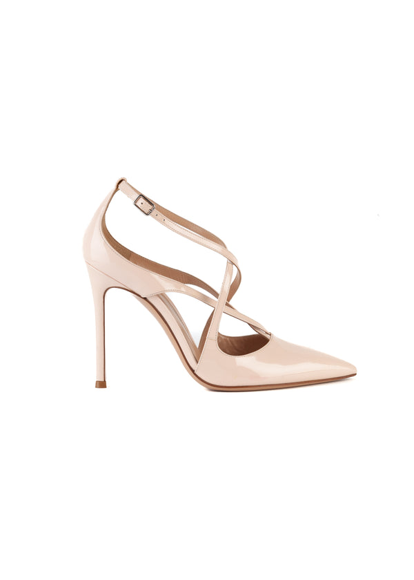 Gianvito Rossi Womens 105 Pink Patent Leather Pumps - ACCESSX