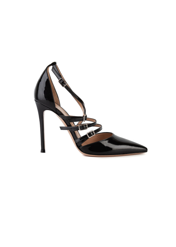 Gianvito Rossi Womens 105 Black Patent Leather Pumps - ACCESSX
