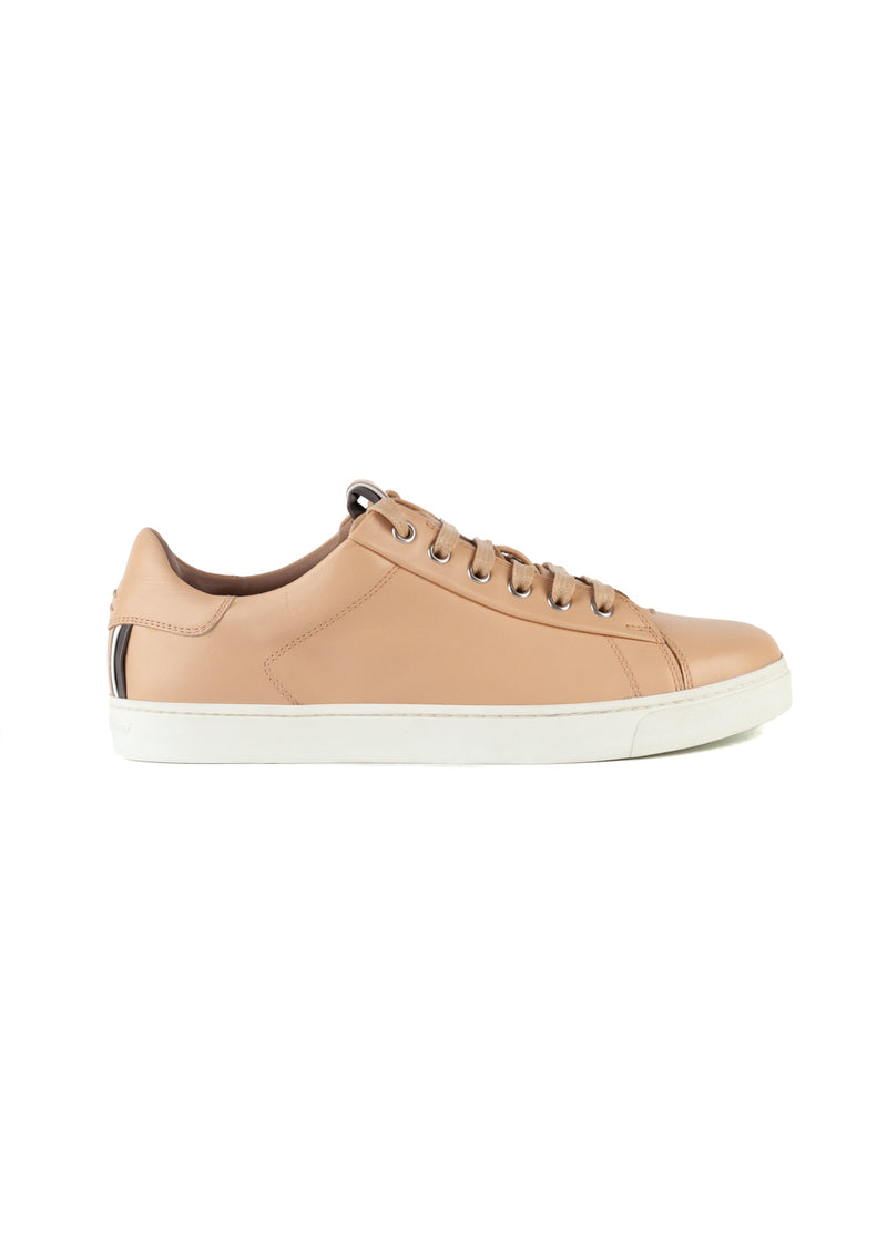 Gianvito Rossi Womens Nude David Low Top Sneakers - ACCESSX