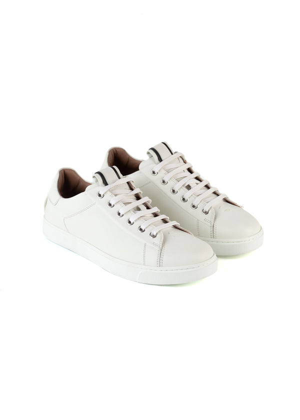 Gianvito Rossi Womens White David Low Top Sneakers - ACCESSX