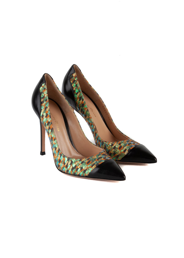 Gianvito Rossi Womens 105 Multicolored Pumps - Tribeca Fashion House
