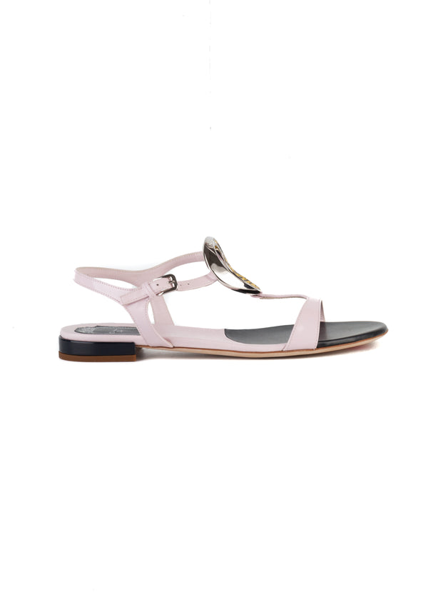 Dior Womens Pink Patent Leather Sandals - ACCESSX