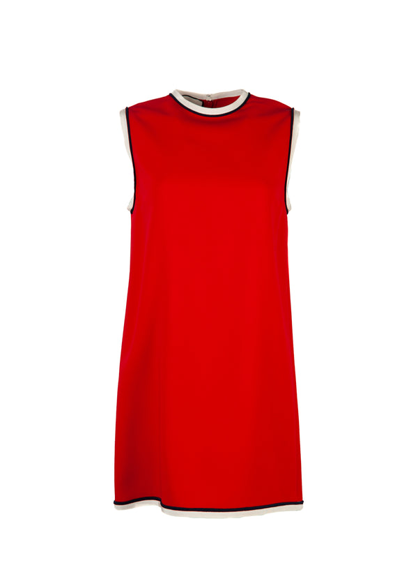 Gucci Womens Red Stretch Viscose Tunic Top - Tribeca Fashion House