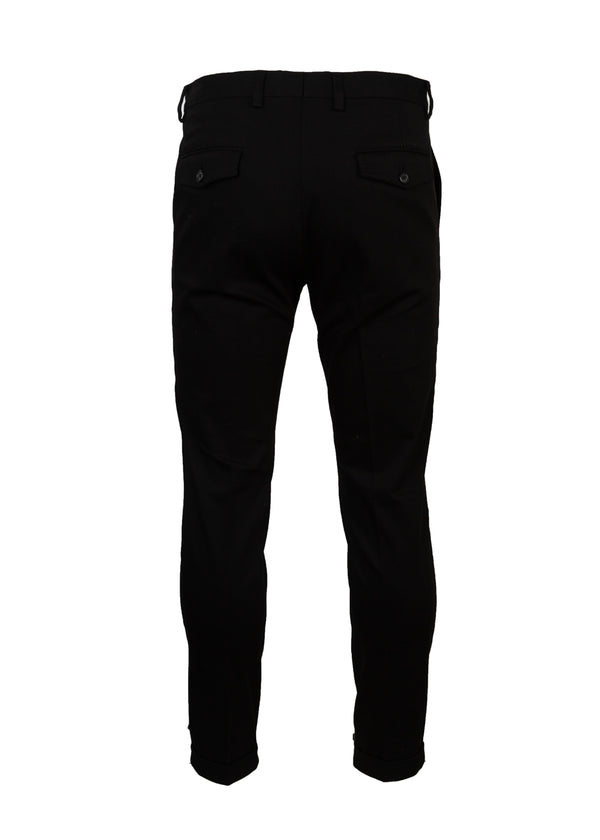 Dolce & Gabbana Mens Black Slim Fit Royal Trousers - Tribeca Fashion House