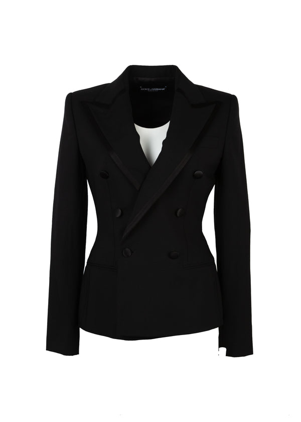 Dolce & Gabbana Womens Black Classic Jacket - Tribeca Fashion House