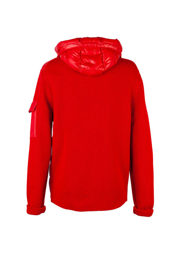 Moncler Mens Red Maglione Tricot Cardigan Jacket - Tribeca Fashion House