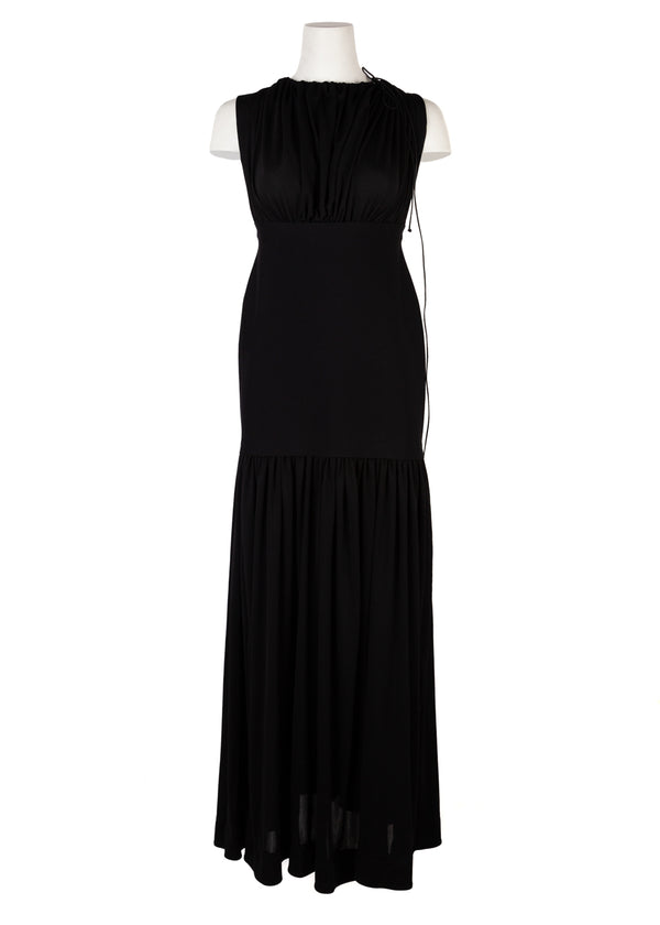Celine Womens Black Maxi Sleeveless Halter Dress - ACCESSX