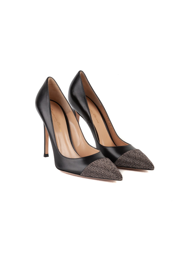 Gianvito Rossi Womens 105 Black Embellished Pumps