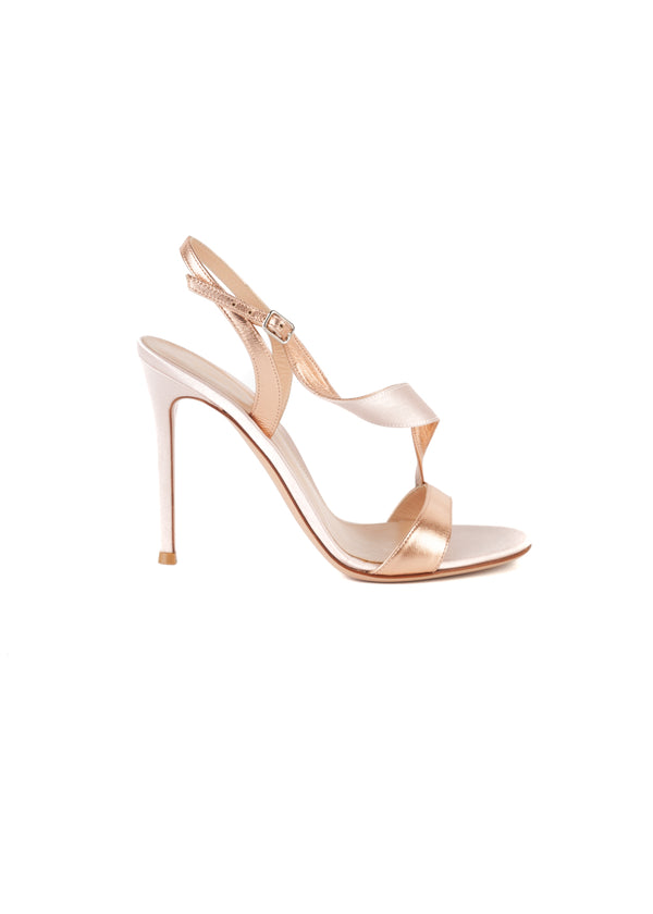 Gianvito Rossi Womens 110 Pink Twist Sandals - Tribeca Fashion House