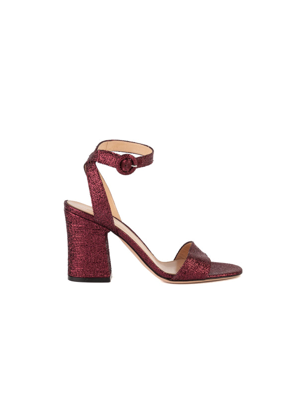 Gianvito Rossi Womens 90 Purple Metallic Sandals