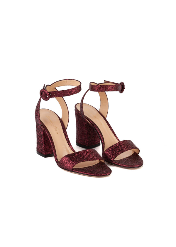Gianvito Rossi Womens 90 Purple Metallic Sandals - Tribeca Fashion House