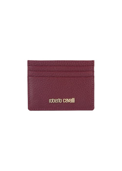 Roberto Cavalli Womens Burgundy Leather Cardholder - ACCESSX