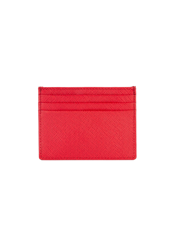 Roberto Cavalli Womens Red Leather Cardholder - Tribeca Fashion House