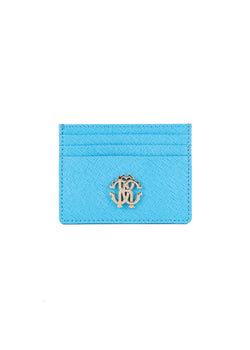Roberto Cavalli Womens Light Blue Leather Cardholder - ACCESSX