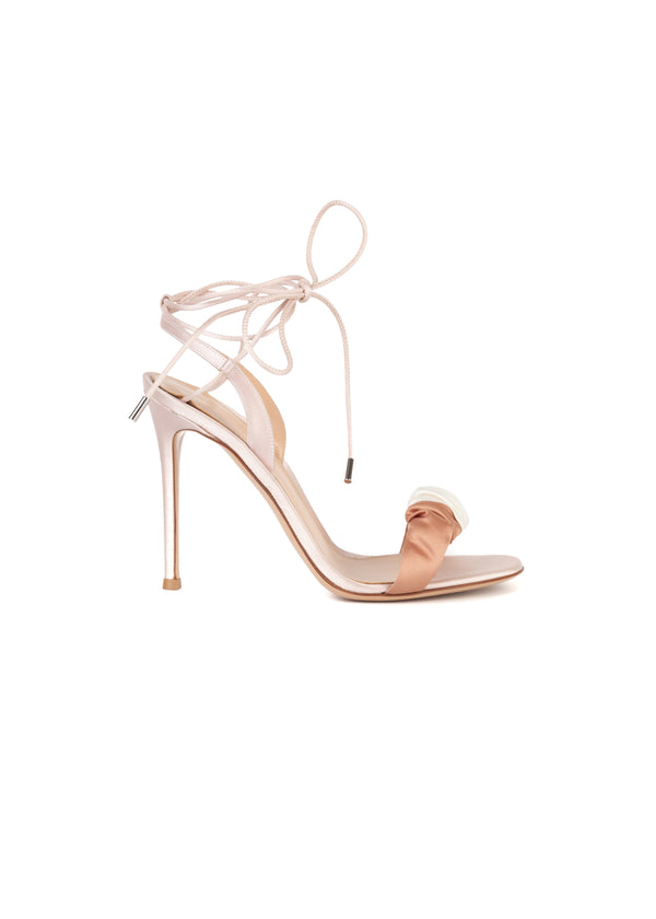 Gianvito Rossi Womens 110 Pink Knot Sandals - Tribeca Fashion House