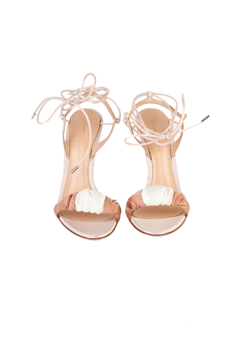 Gianvito Rossi Womens 110 Pink Knot Sandals - ACCESSX