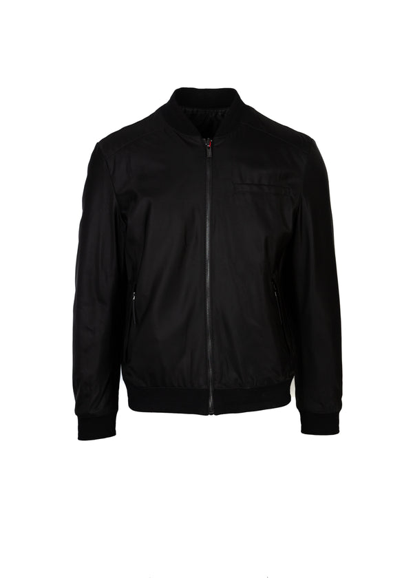 HUGO By Hugo Boss Mens Black Eagle Reversible Bomber Jacket - ACCESSX