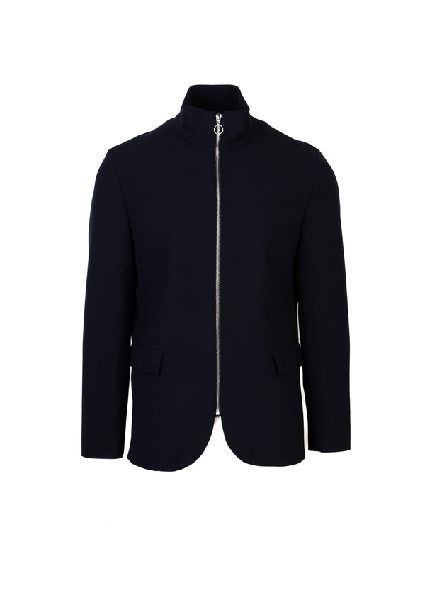 HUGO By Hugo Boss Mens Navy Apino Zipped Jacket - ACCESSX