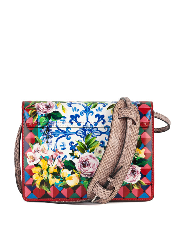Dolce & Gabbana Womens Floral Leather Bag - ACCESSX