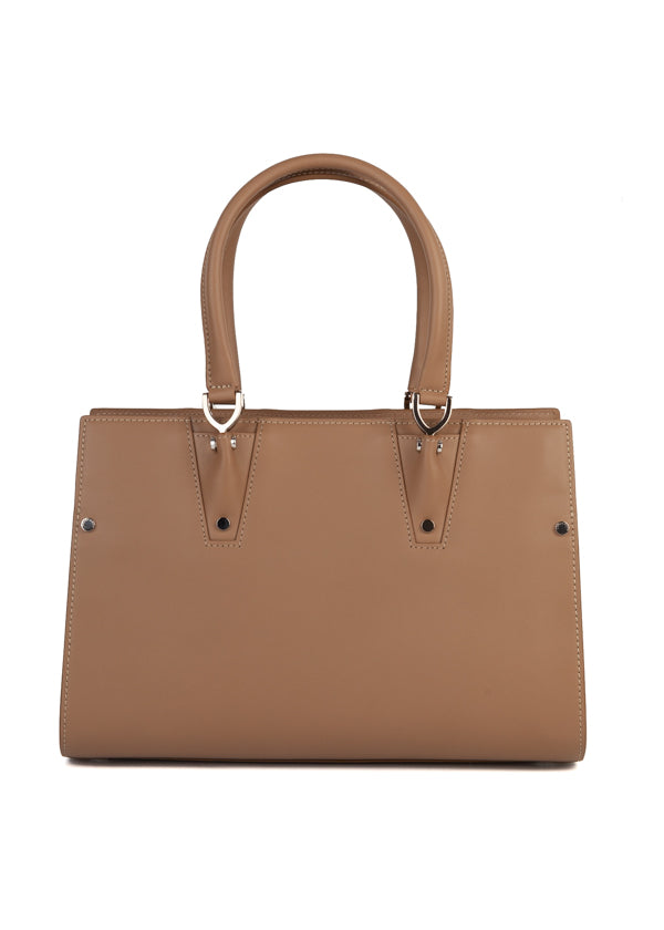 Longchamp Womens Taupe Paris Premier Small Tote Bag - ACCESSX
