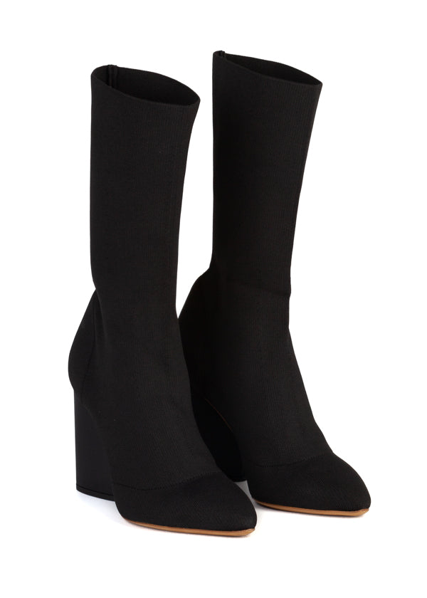 Yeezy Womens Black Low Knit Boot - ACCESSX